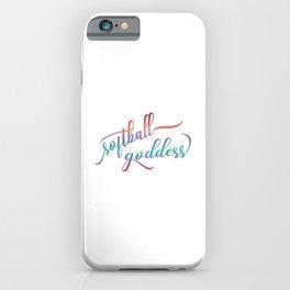 Softball Goddess Summer Ombre iPhone Case