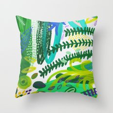 Between the branches. IV Throw Pillow