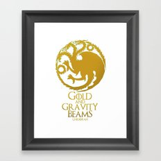 Gold and Gravity Beams Framed Art Print