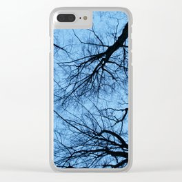 Spooky Trees Clear iPhone Case
