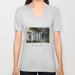 Charleston SC No.3 House on Rainbow Row Unisex V-Neck