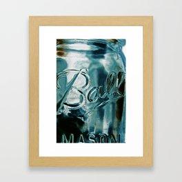 ball mason jar Framed Art Print