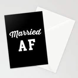 Married AF Funny Quote Stationery Cards