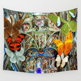Butterfly in Cappella Sistina SistineChapel Wall Tapestry