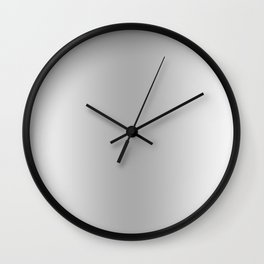 White to Gray Vertical Bilinear Gradient Wall Clock