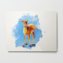 Little Fawn Metal Print