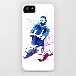 Sports art - France football player iPhone Case