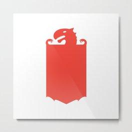 Dragon Flag Metal Print