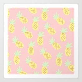 Summertime Pineapples Art Print