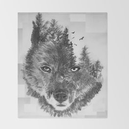 The Wild and the Wilderness II Throw Blanket
