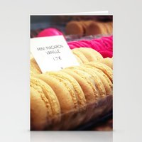 macaron Stationery Cards featuring Macaron by Emily Werboff