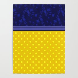 The yellow-blue combo pattern. Poster