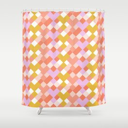 Geometic Summer Pattern Shower Curtain