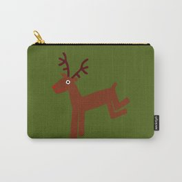 Reindeer-Green Carry-All Pouch