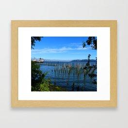 Columbia River Scene Framed Art Print