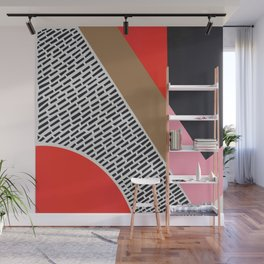 Pink Gold Red Abstract Wall Mural