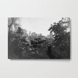 Minneapolis Minnesota Black and White Photography Metal Print