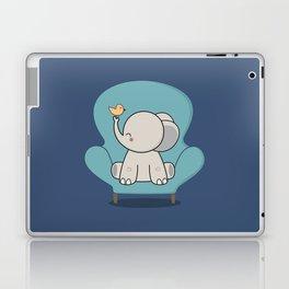 Kawaii Cute Elephant On A Couch Laptop & iPad Skin
