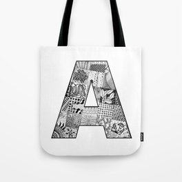 Cutout Letter A Tote Bag