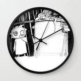 Garbage Bin: Nightmares Are REAL! Wall Clock