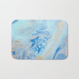 Blue and Gold Bath Mat