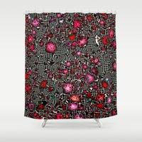 sci fi Shower Curtains featuring Sci-Fi Fantasy Cosmos by MehrFarbeimLeben