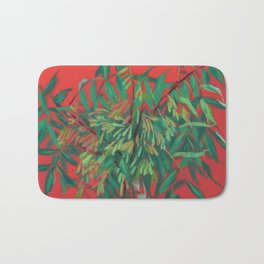 Ash-tree, red and  green Bath Mat