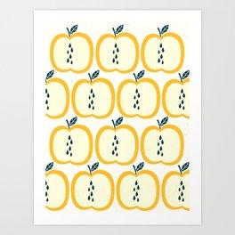 Apple Pattern 2 Art Print