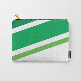 Green Stripes Carry-All Pouch