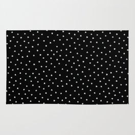 Black Cats Polka Dot Rug