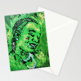 thug,so much fun,album art,cover,green,music,hiphop,rap,decor,wall art,gangsta,cool,dope,poster Stationery Cards