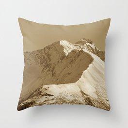 Majestic Mountain - Sepia Throw Pillow
