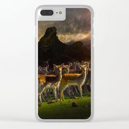 Group of deer Clear iPhone Case