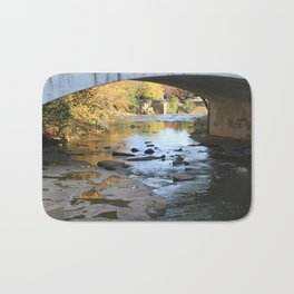 Fiery Fall Reflections Bath Mat