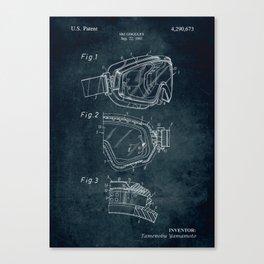 1981 - Ski Goggles patent art Canvas Print