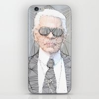 karl lagerfeld iPhone & iPod Skins featuring ICONS: Karl Lagerfeld by LeeandPeoples