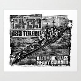Heavy cruiser Toledo Art Print