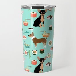 chihuahua sushi dog lover pet gifts cute pure breed chihuahuas multi coat colors Travel Mug