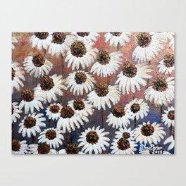 White Swan flowers Canvas Print