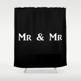 Mr & Mr Monogram bold Shower Curtain