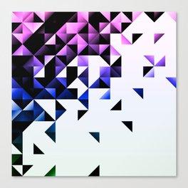 Purple Trangle Fade Canvas Print