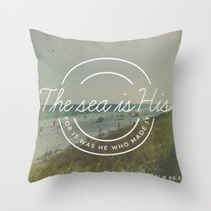 Psalm 95:5 Throw Pillow