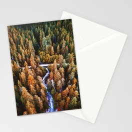 forest aerial view in yosemite Stationery Cards