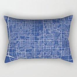 Chandler Map, USA - Blue Rectangular Pillow