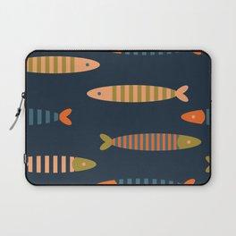 Striped fish - dark blue Laptop Sleeve