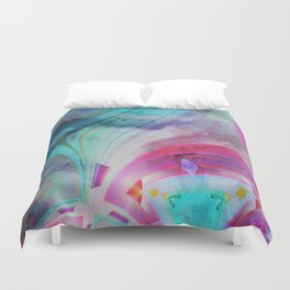 pastel geometrical asbtract Duvet Cover