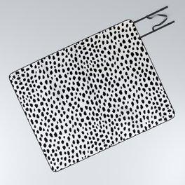 Dalmatian Spots (black/white) Picnic Blanket