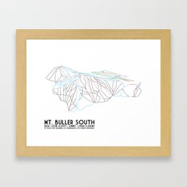 Mt. Buller Southern Exposure, Victoria, Australia - Minimalist Trail Art Framed Art Print