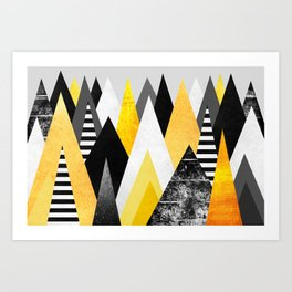 Yellow Peaks Art Print