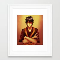zuko Framed Art Prints featuring Zuko by TiuanaRui